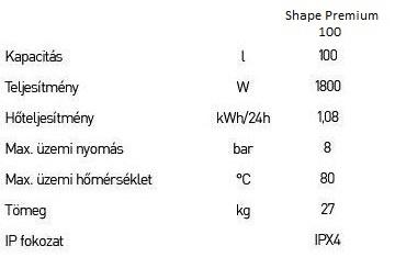 Ariston shape premium 100 villanybojler 3626081 ariston for Ariston shape premium 100